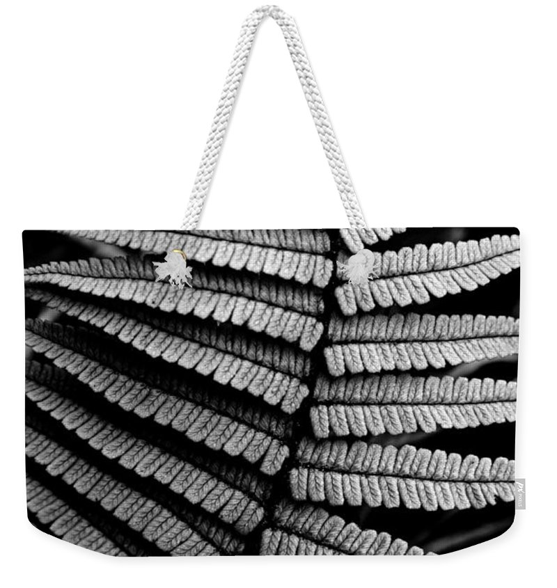 Black And White Weekender Tote Bag featuring the photograph Interlaced by Nature Photographer
