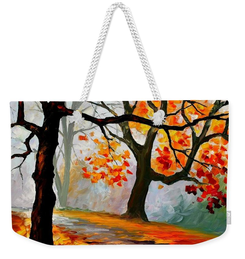 Landscape Weekender Tote Bag featuring the painting Interplacement by Leonid Afremov