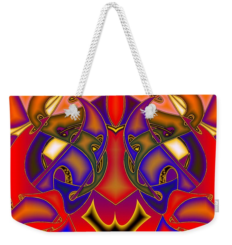 Life Weekender Tote Bag featuring the digital art Intertwined Lifestreets by Helmut Rottler