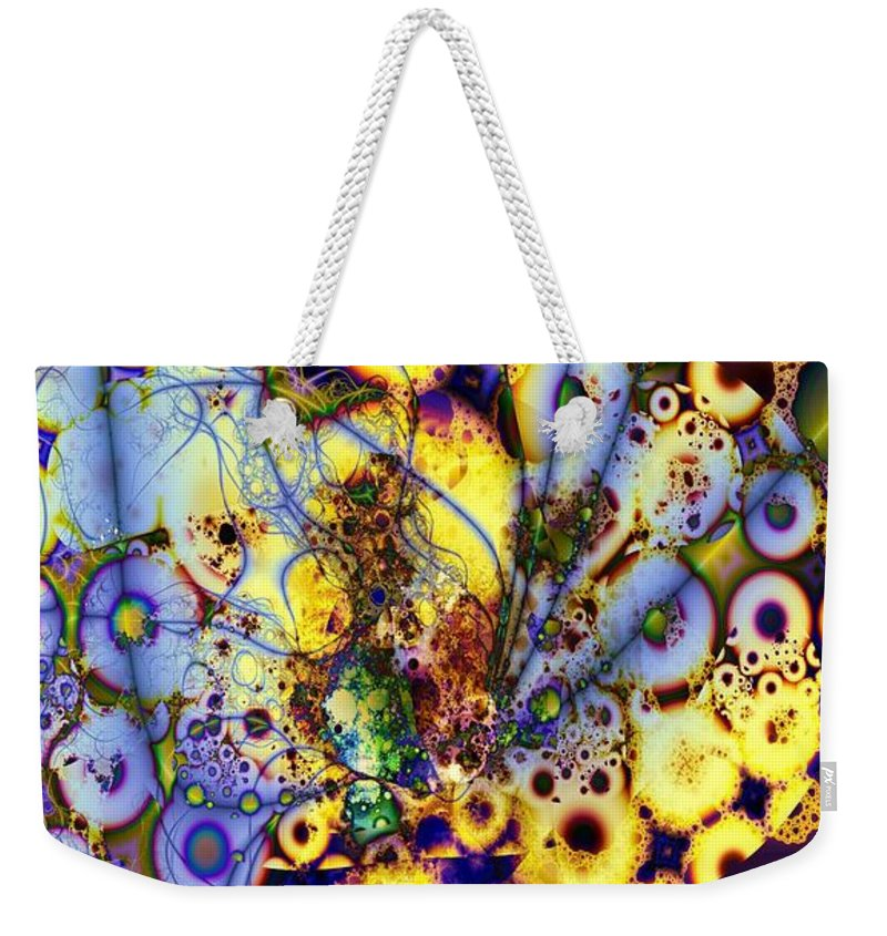 Intertwine Weekender Tote Bag featuring the digital art Intertwined by Ron Bissett
