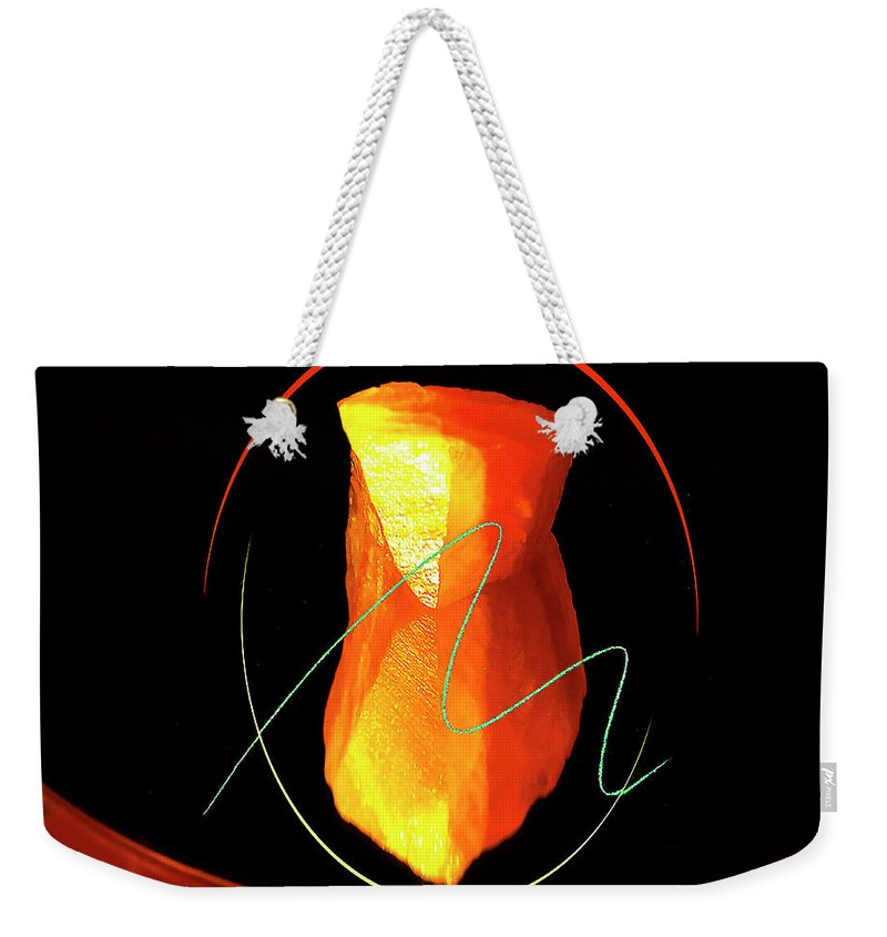 Abstract Weekender Tote Bag featuring the digital art Intimateconjunction by Roger Bester