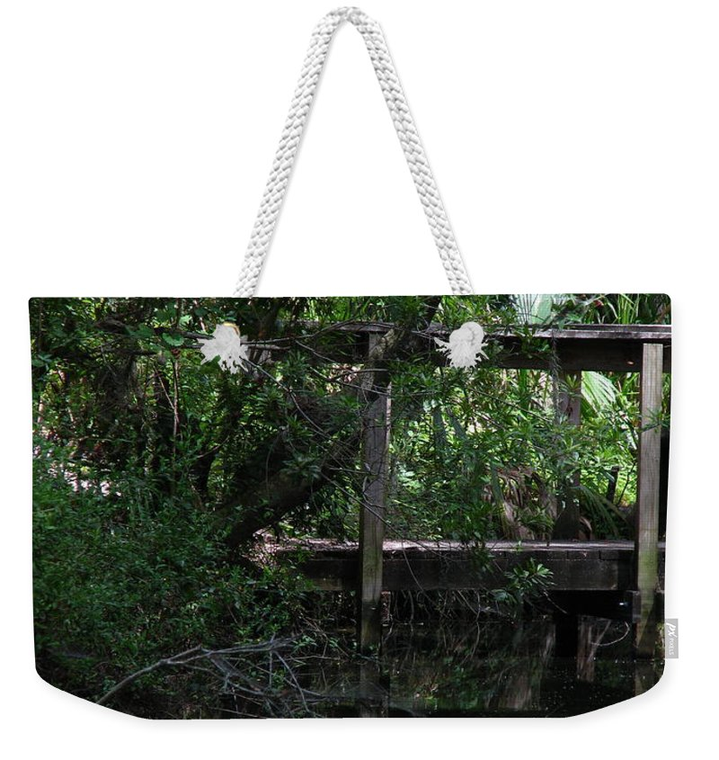 Woods Weekender Tote Bag featuring the photograph Into Green by Greg Patzer