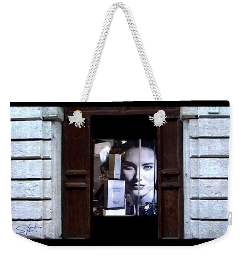 Dream Weekender Tote Bag featuring the painting Into The Doorway by Charles Stuart