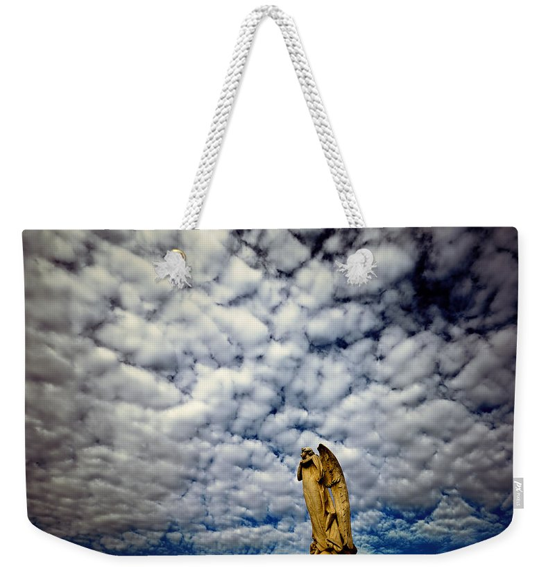 Angel Weekender Tote Bag featuring the photograph Into The Firmanent by Wayne Sherriff