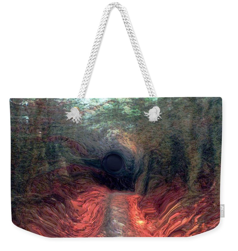 Forest Weekender Tote Bag featuring the photograph Into The Forest by Linda Sannuti