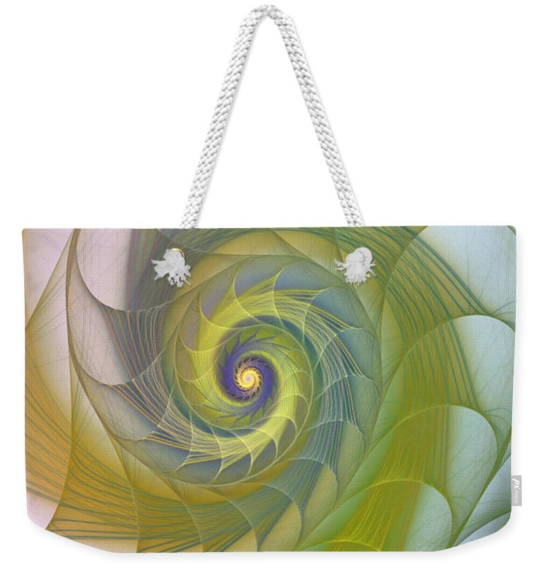 Fractal Weekender Tote Bag featuring the photograph Into The Inner Kingdom by Deborah Benoit