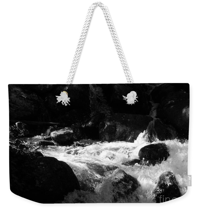 Rivers Weekender Tote Bag featuring the photograph Into The Light by Amanda Barcon