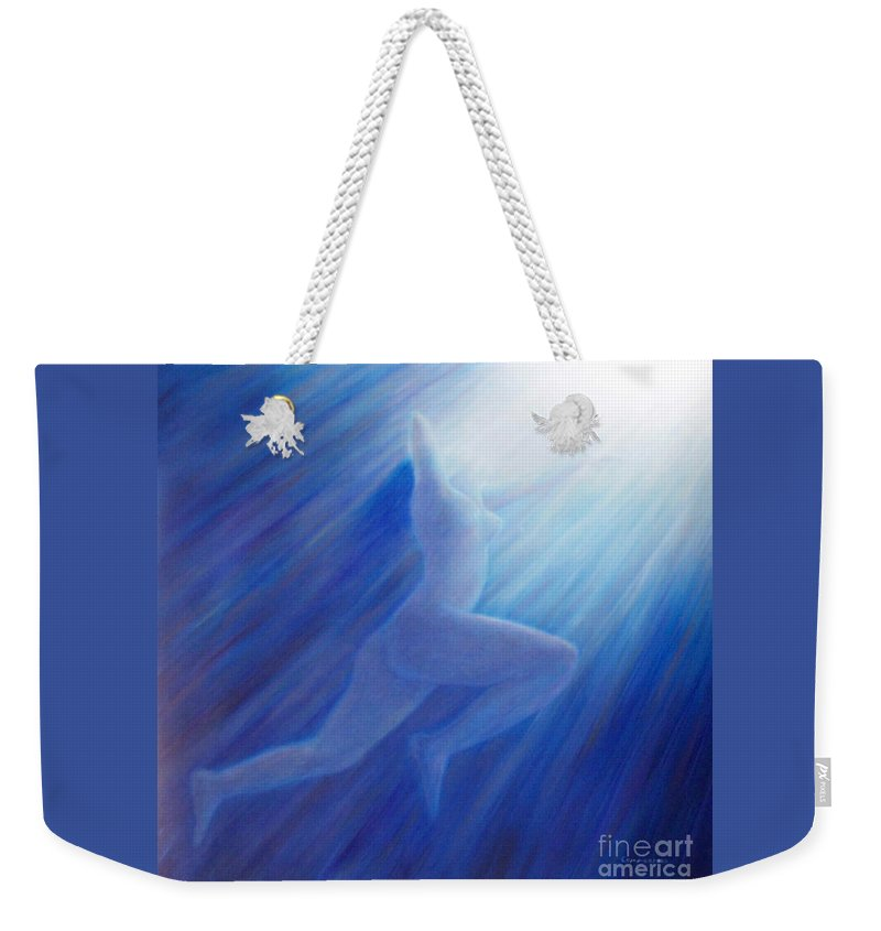 Spiritual Weekender Tote Bag featuring the painting Into The Light by Brian Commerford