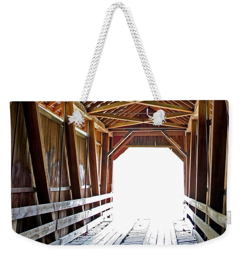 Light Weekender Tote Bag featuring the photograph Into The Light by Margie Wildblood