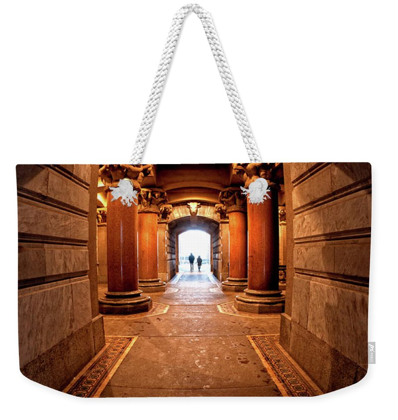 Philadelphia Weekender Tote Bag featuring the photograph Into The Light by Neil Shapiro