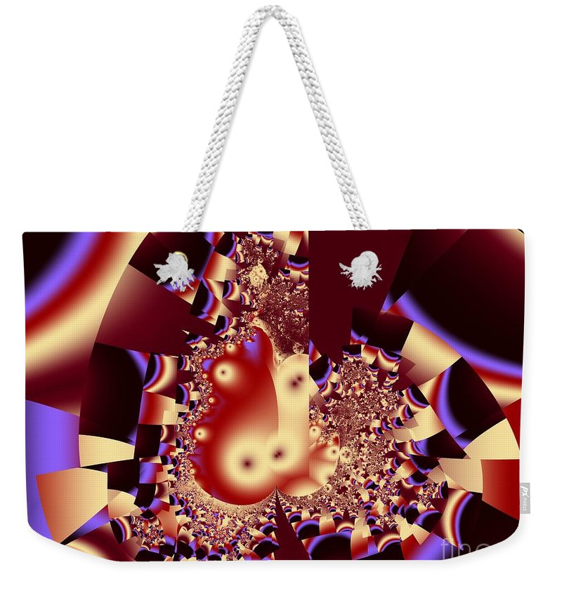 Fractal Art Weekender Tote Bag featuring the digital art Into The Well by Ron Bissett
