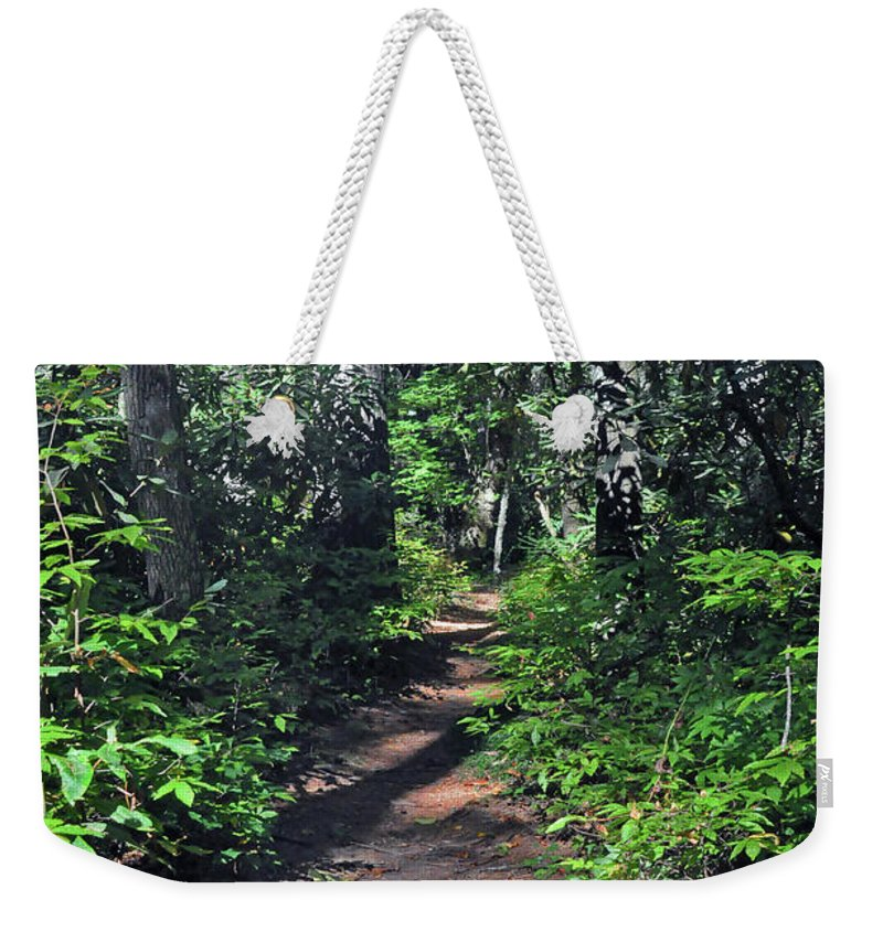 Nature Weekender Tote Bag featuring the photograph Into The Woods by Kay Lovingood