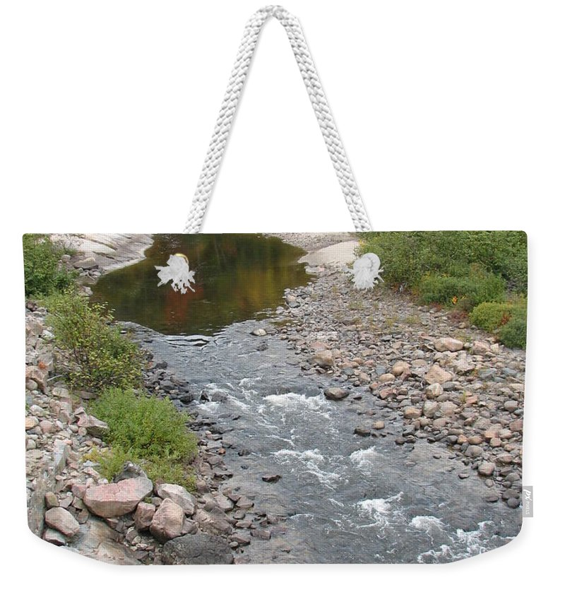Water Weekender Tote Bag featuring the photograph Into The Woods by Kelly Mezzapelle