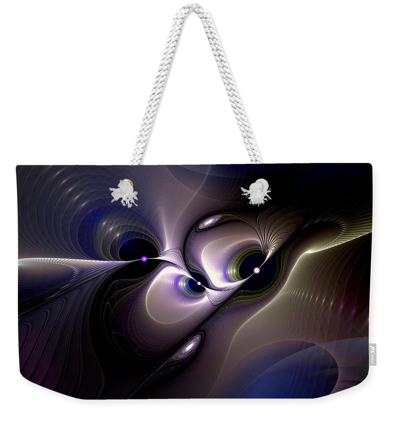 Abstract Weekender Tote Bag featuring the digital art Introspective Perspective by Casey Kotas