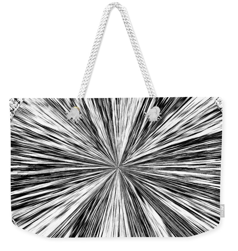 Black & White Weekender Tote Bag featuring the digital art Introspective by Will Borden