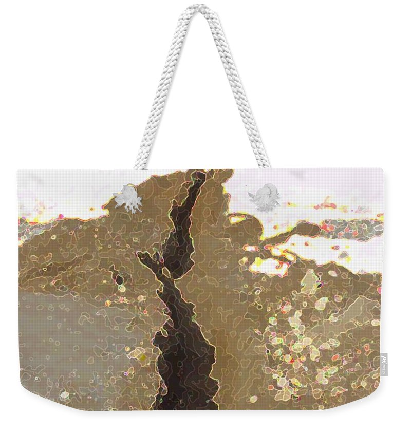 Abstract Weekender Tote Bag featuring the digital art Intrusion by Ron Bissett