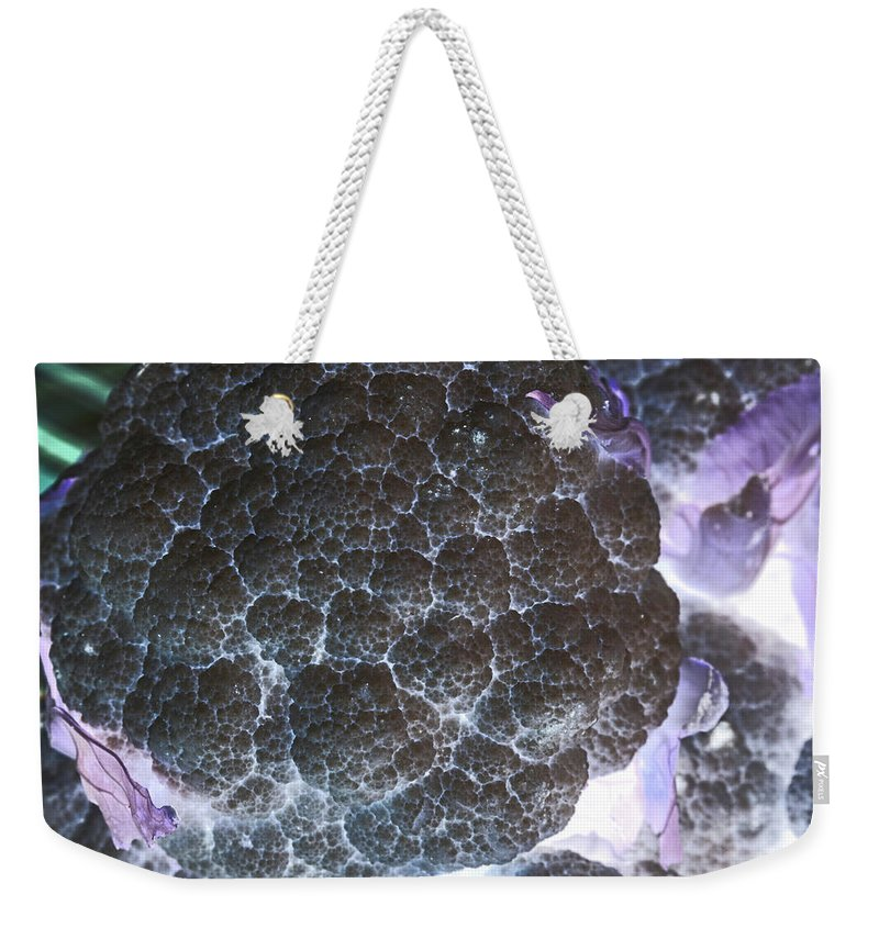 Cauliflower Weekender Tote Bag featuring the photograph Inverted Cauliflower by Kendra Susan