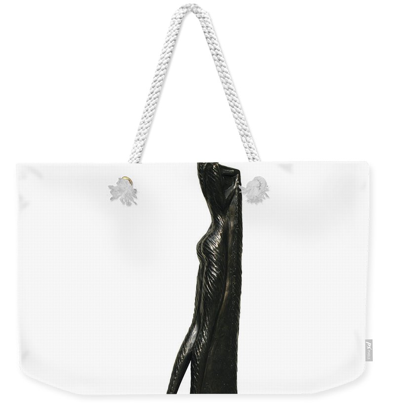 Fish Weekender Tote Bag featuring the sculpture Invisible Touch by Igor Grechanyk