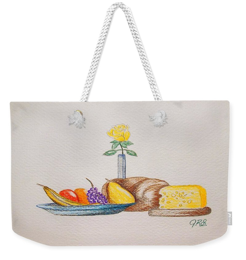 Drawing Weekender Tote Bag featuring the drawing Invitation by J R Seymour