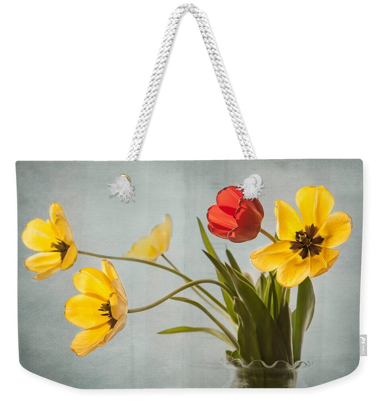 Tulips Weekender Tote Bag featuring the photograph Invitation To Dance by Maggie Terlecki