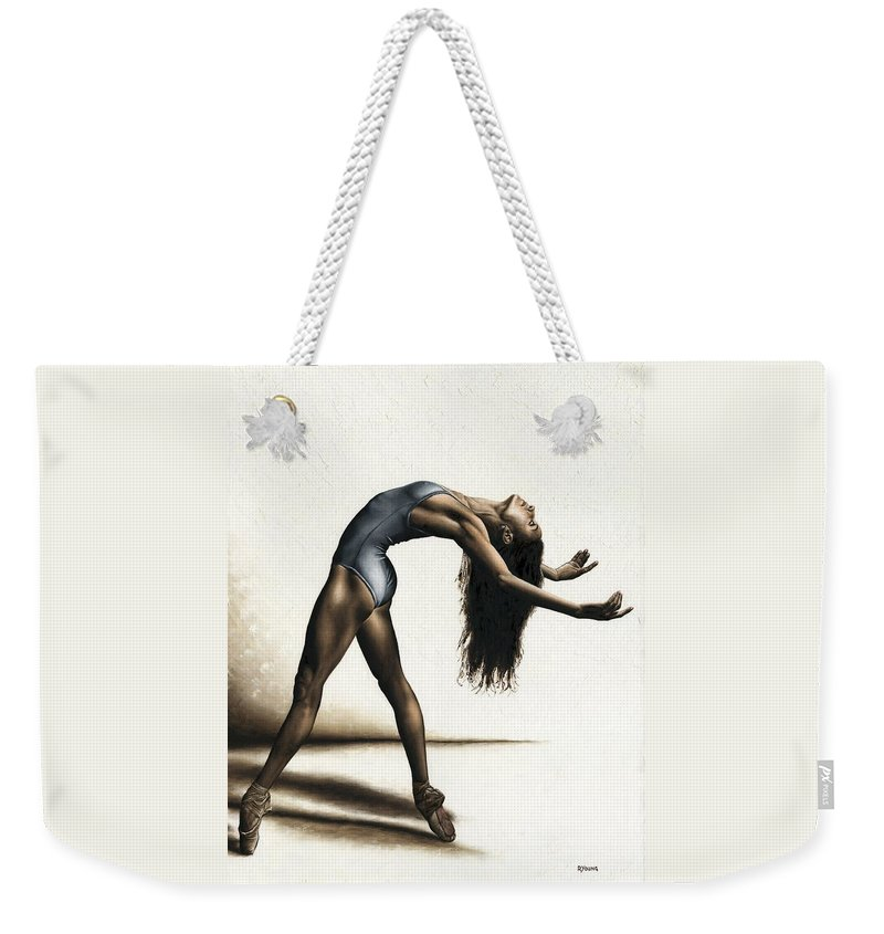 Dance Weekender Tote Bag featuring the painting Invitation to Dance by Richard Young