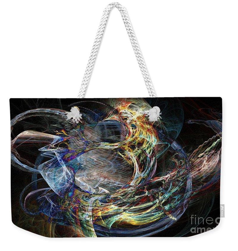 Inward Weekender Tote Bag featuring the digital art Inward Flow by Ron Bissett