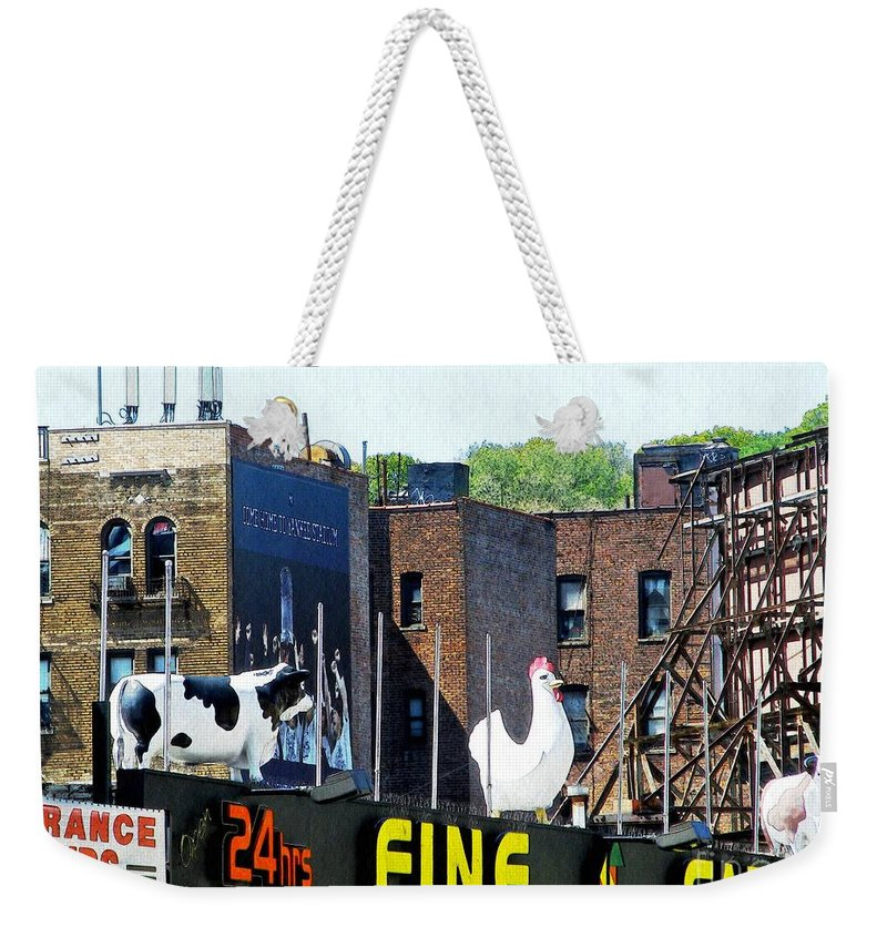 Statue Weekender Tote Bag featuring the photograph Inwood Farm by Sarah Loft