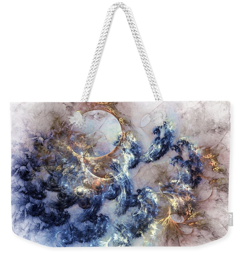 Abstract Weekender Tote Bag featuring the digital art Ion Storm by Casey Kotas