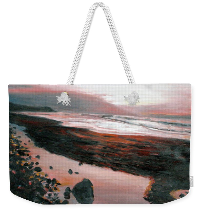 Landscape Weekender Tote Bag featuring the painting Ireland by Pablo de Choros