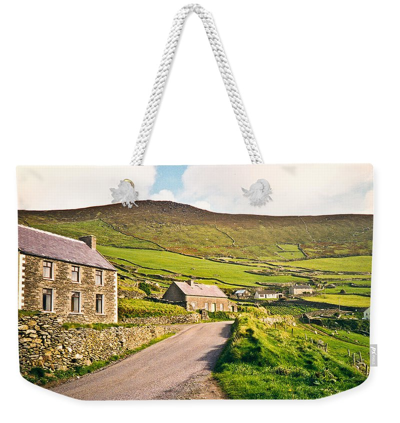 Ireland Weekender Tote Bag featuring the photograph Ireland Farmland by Douglas Barnett