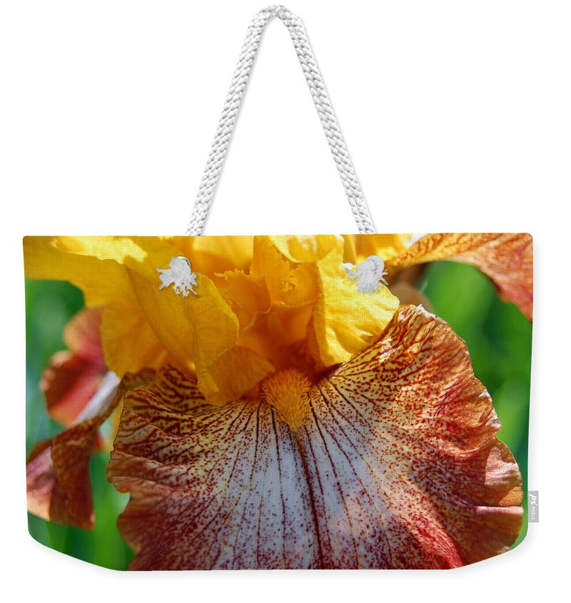 Iris Weekender Tote Bag featuring the photograph Iris 2 by Amy Fose