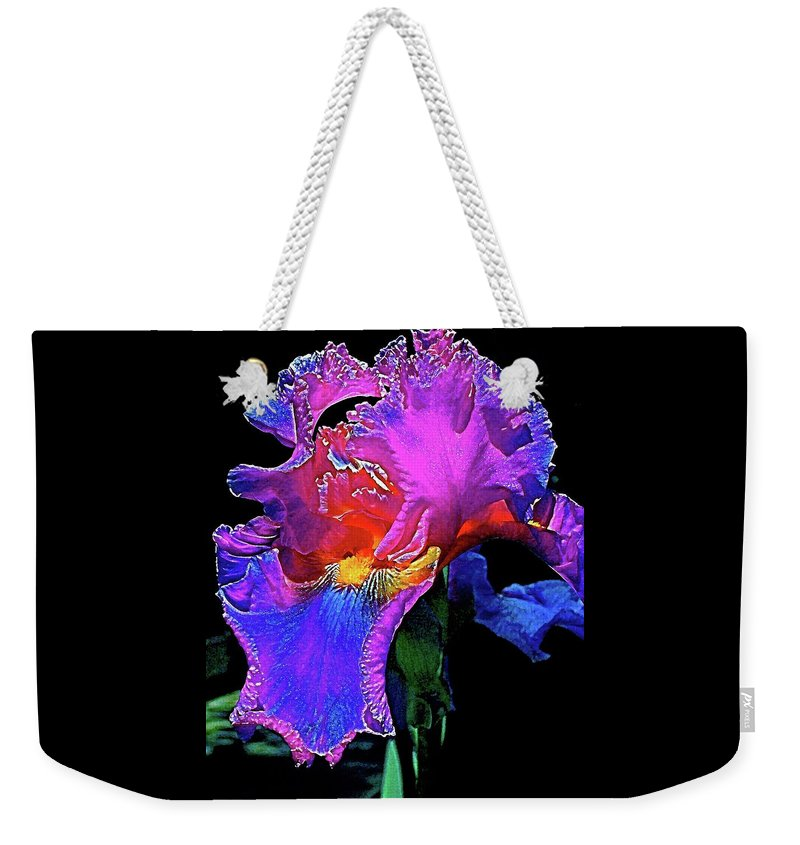 Flowers Weekender Tote Bag featuring the photograph Iris 3 by Pamela Cooper