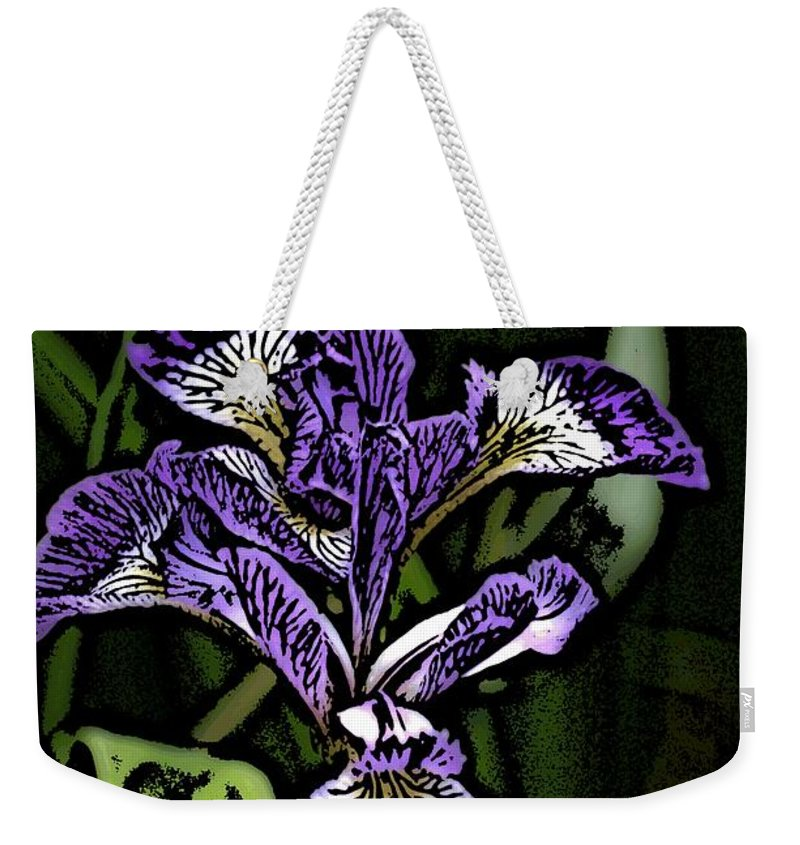 Digital Photograph Weekender Tote Bag featuring the photograph Iris by David Lane