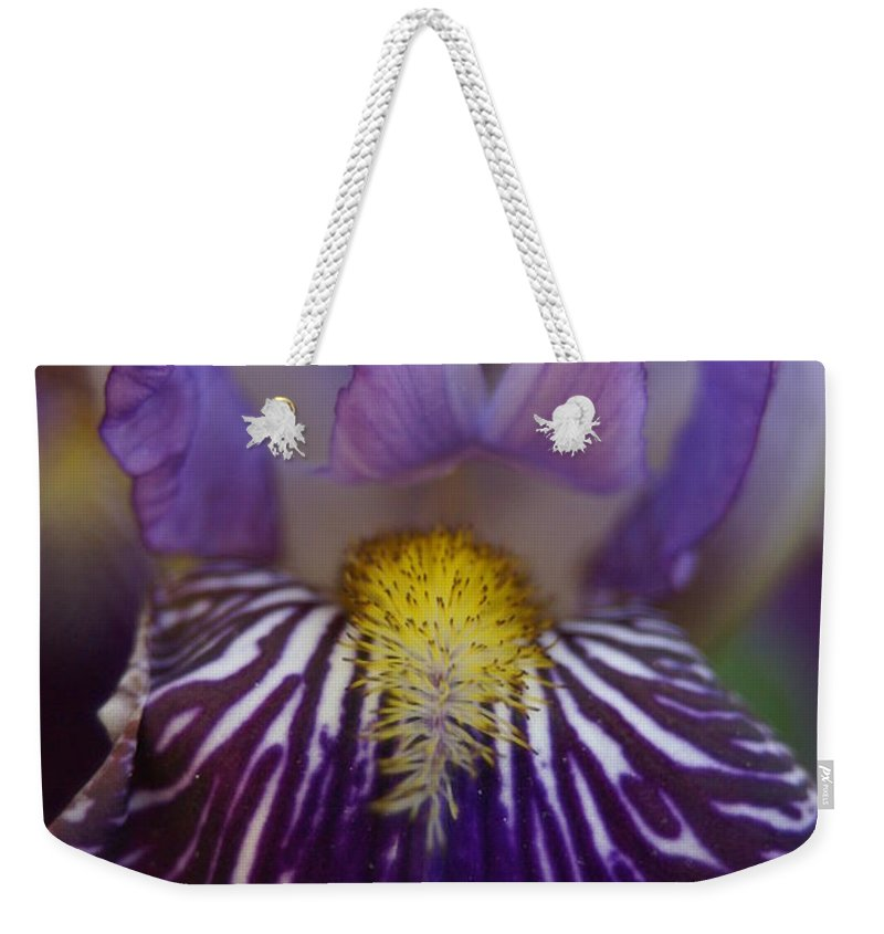 Iris Weekender Tote Bag featuring the photograph Iris by Heidi Poulin