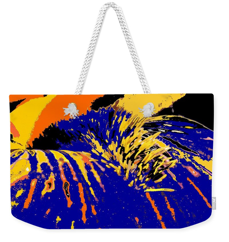 Flower Weekender Tote Bag featuring the photograph Iris by Ian MacDonald