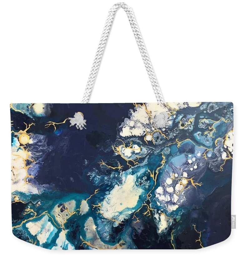 Acrylic Weekender Tote Bag featuring the painting Athena by Sarah Mathews