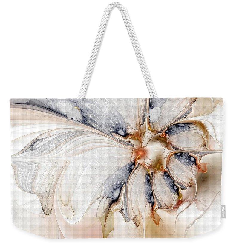 Digital Art Weekender Tote Bag featuring the digital art Iris by Amanda Moore