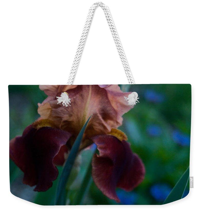 Iris Weekender Tote Bag featuring the photograph Iris Passion by Douglas Barnett