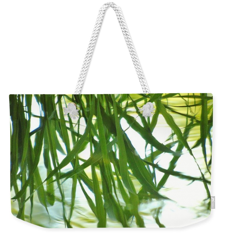 Iris Weekender Tote Bag featuring the photograph Iris Reflections by Barbara St Jean