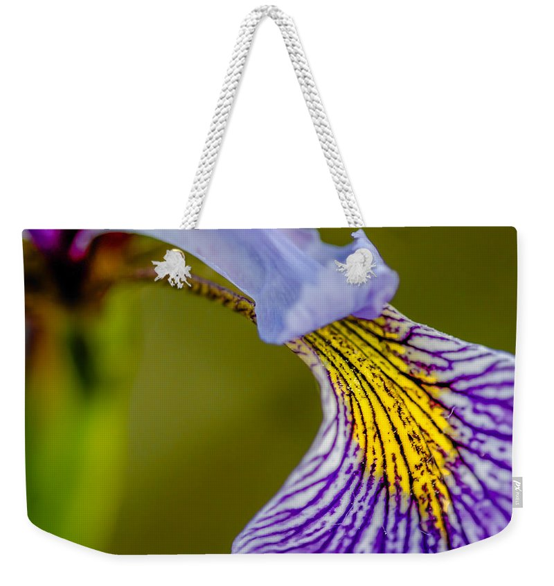Optical Playground By Mp Ray Weekender Tote Bag featuring the photograph Iris The Greek Goddess Of The Rainbow by Optical Playground By MP Ray