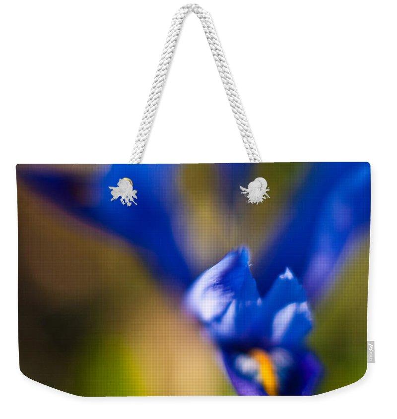 Iris Weekender Tote Bag featuring the photograph Irises by Mike Reid
