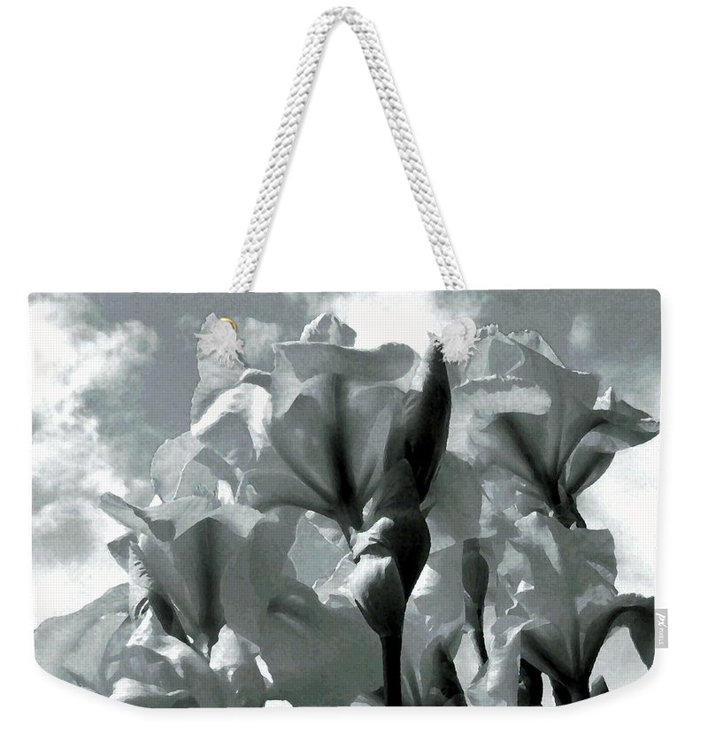 Irises Weekender Tote Bag featuring the photograph Irises by Will Borden