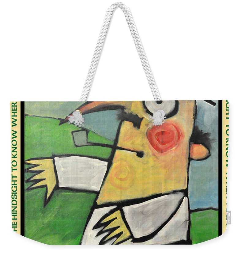 Irish Weekender Tote Bag featuring the painting Irish Blessing Poster by Tim Nyberg