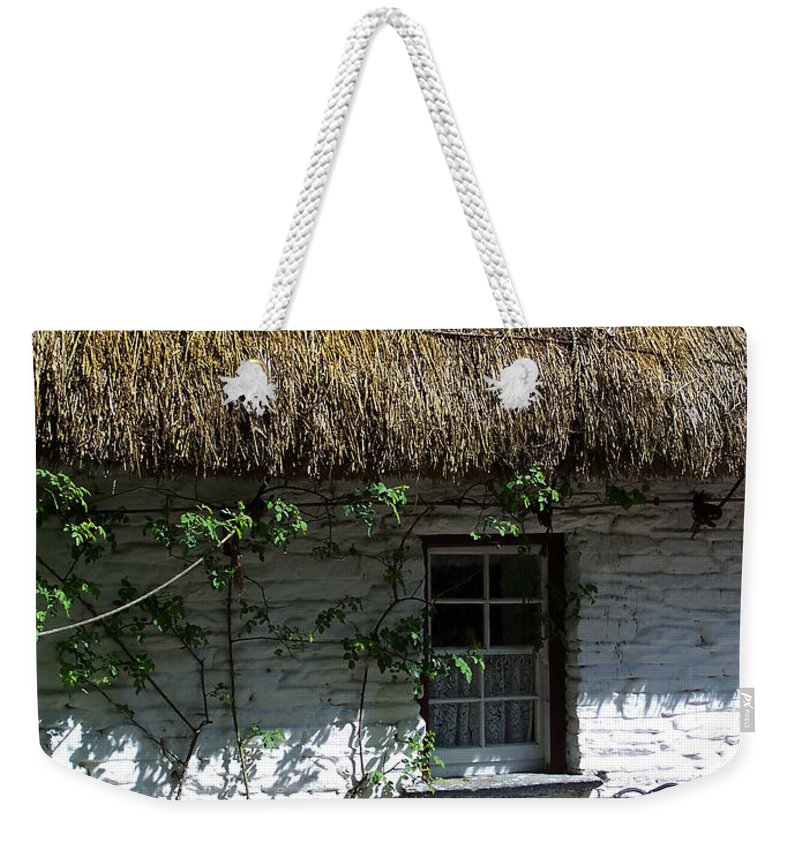 Irish Weekender Tote Bag featuring the photograph Irish Farm Cottage Window County Cork Ireland by Teresa Mucha