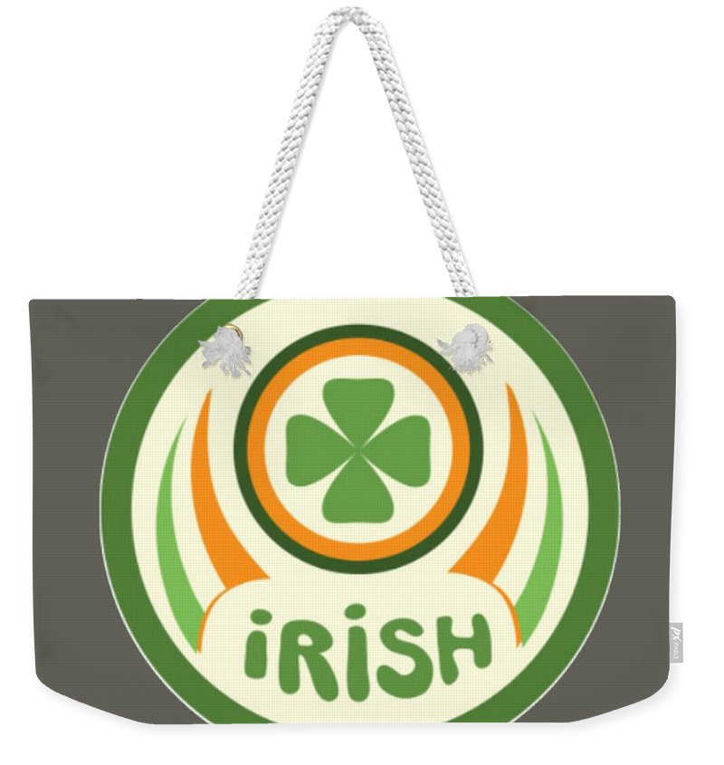Religion Weekender Tote Bag featuring the digital art Irish by Frederick Holiday
