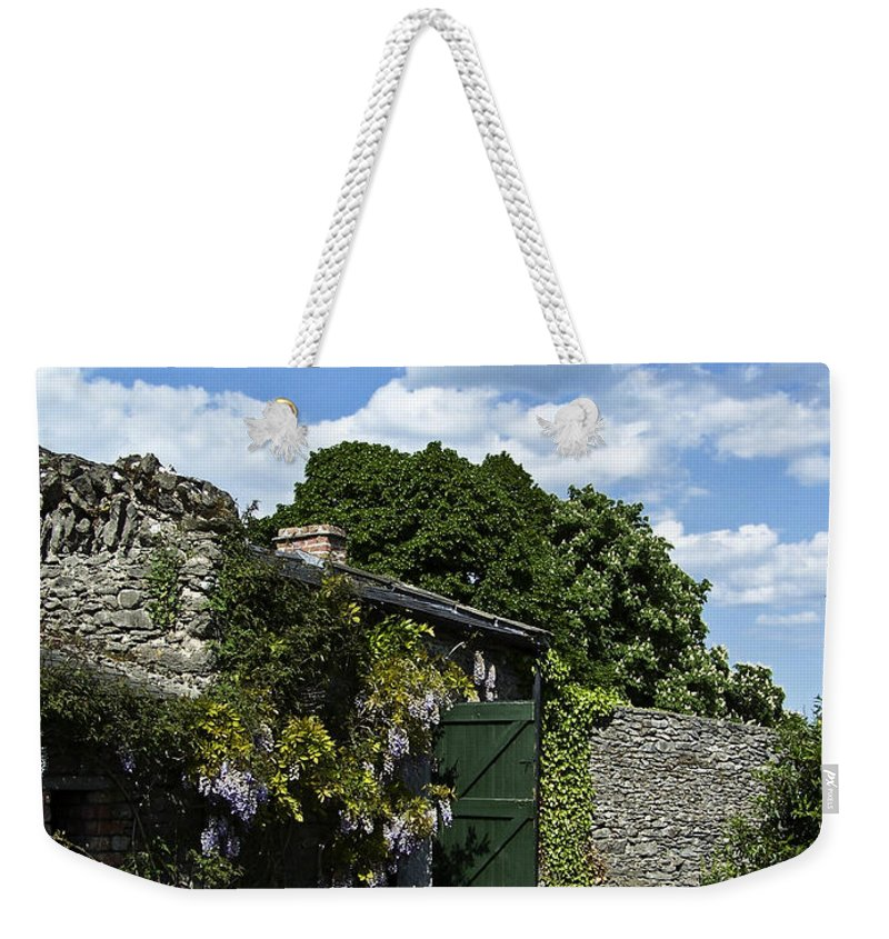 Irish Weekender Tote Bag featuring the photograph Irish Garden County Clare by Teresa Mucha