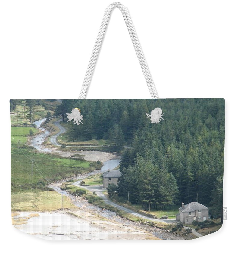 Ireland Weekender Tote Bag featuring the photograph Irish Valley by Kelly Mezzapelle