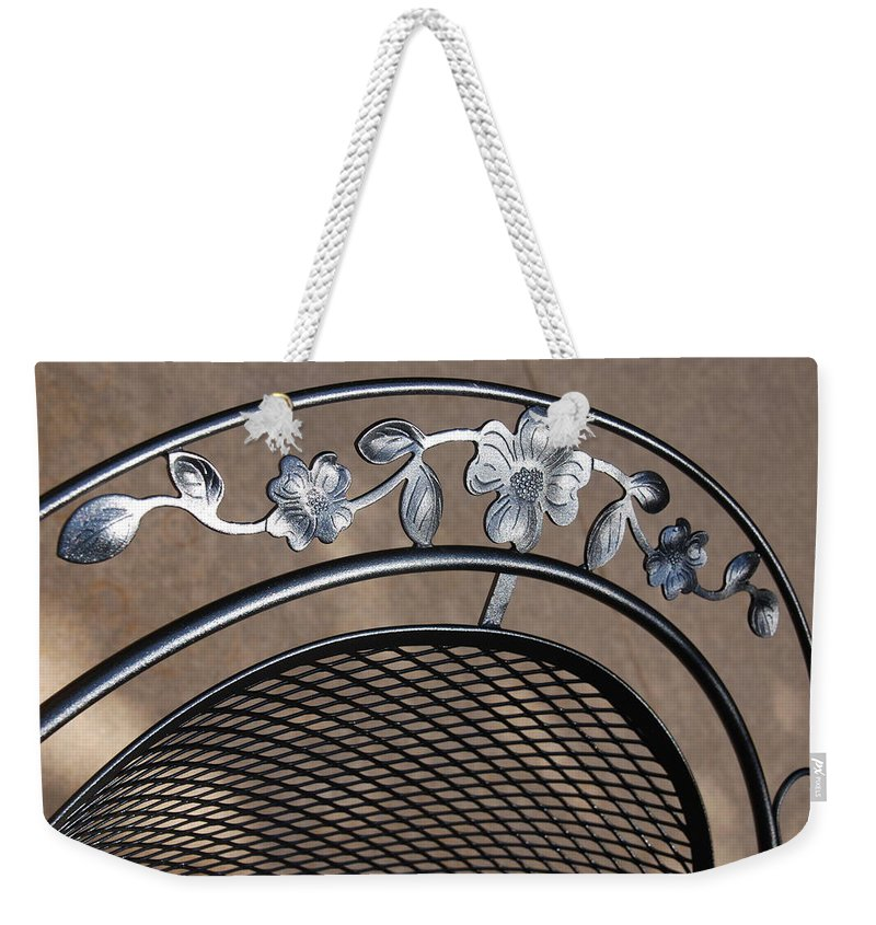 Photography Weekender Tote Bag featuring the photograph Iron Art Work by Susanne Van Hulst