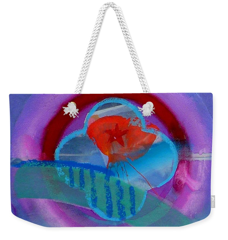 Logo Weekender Tote Bag featuring the painting Iron Butterfly by Charles Stuart