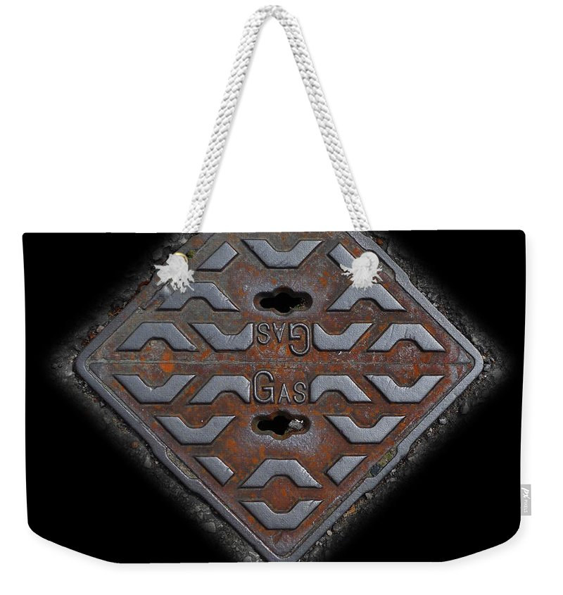 Cast Iron Weekender Tote Bag featuring the photograph Iron Diamond by Charles Stuart